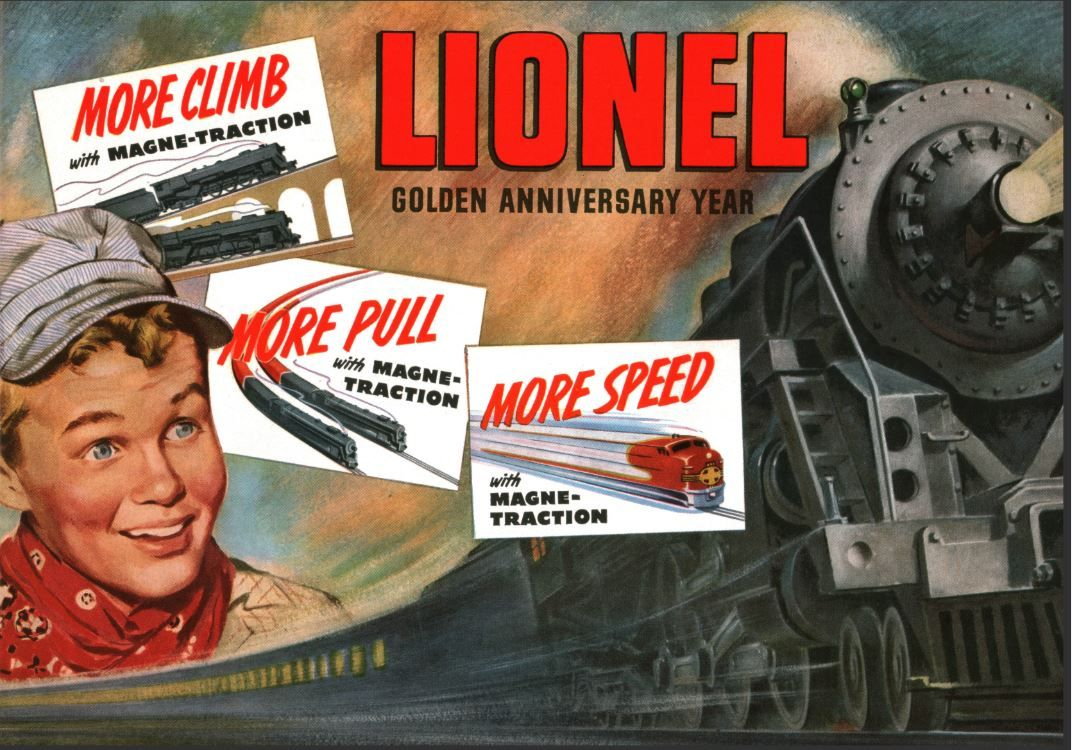 Lionel Trains catalog cover 1950