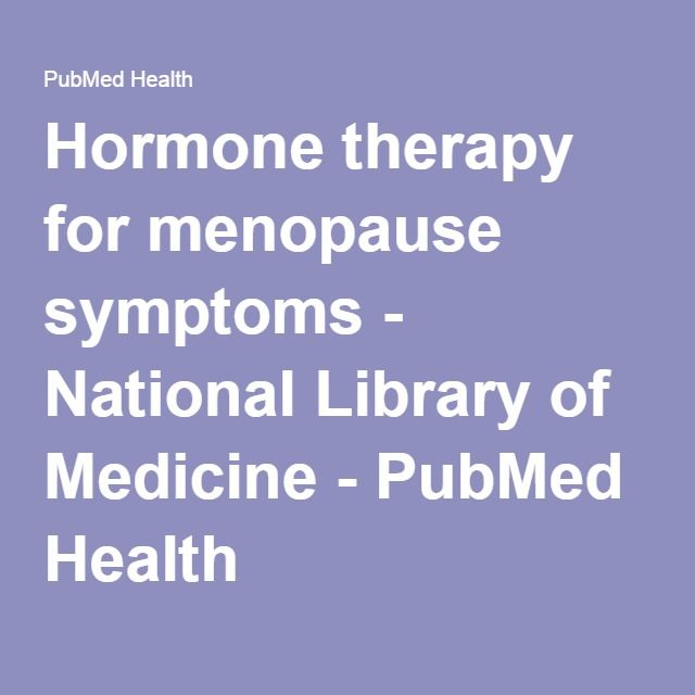 Hormone therapy for menopause symptoms