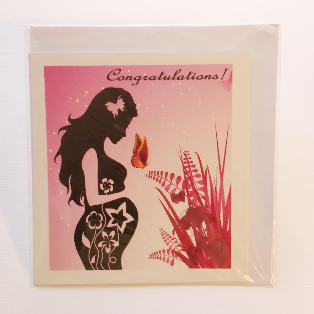Pregnant Woman Silhouette Greeting Card In Yoruba Igbo Hausa Akan