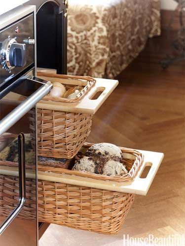 Basket Drawers For Produce And Bread Keep Counters Clear In A Kitchen Design Nicole Hough