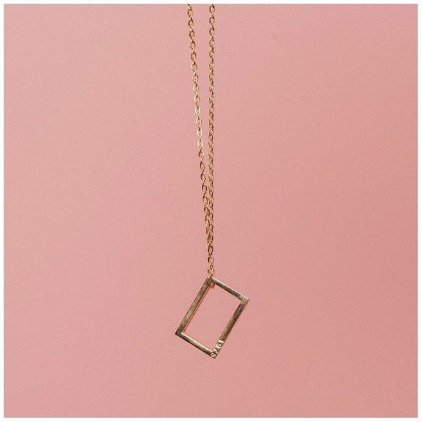 Rose gold necklace 25 liked on polyvore featuring jewelry rose gold necklace 25 liked on polyvore featuring jewelry necklaces rectangular aloadofball Images
