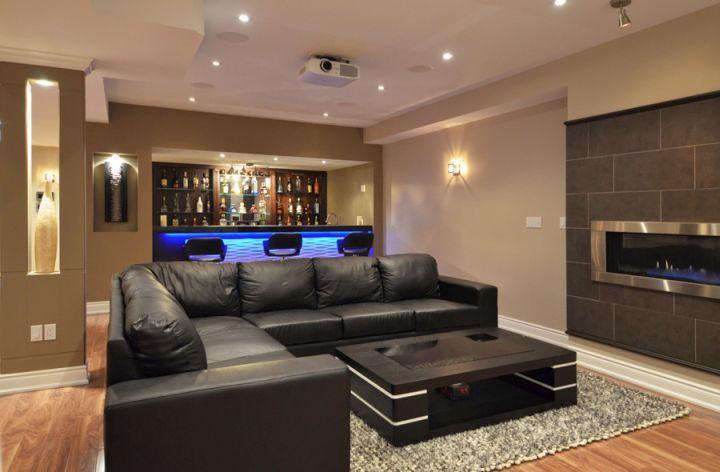 25 Top Modern Basement Design Ideas Modern Basement Basement Design Basement Furniture