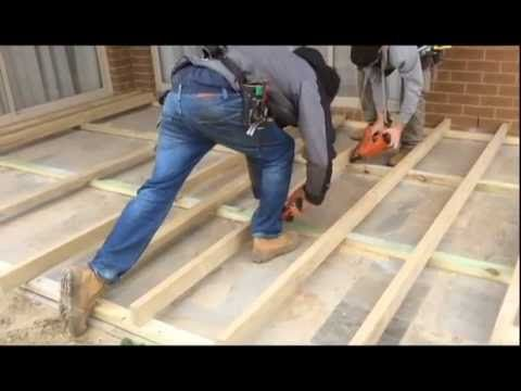 How To Build A Decking Sub Floor Over A Concrete Slab Www