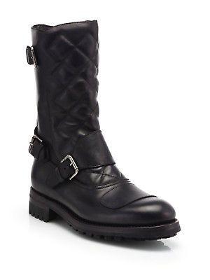Ralph Lauren Leather Biker Boots 0aOBkK5