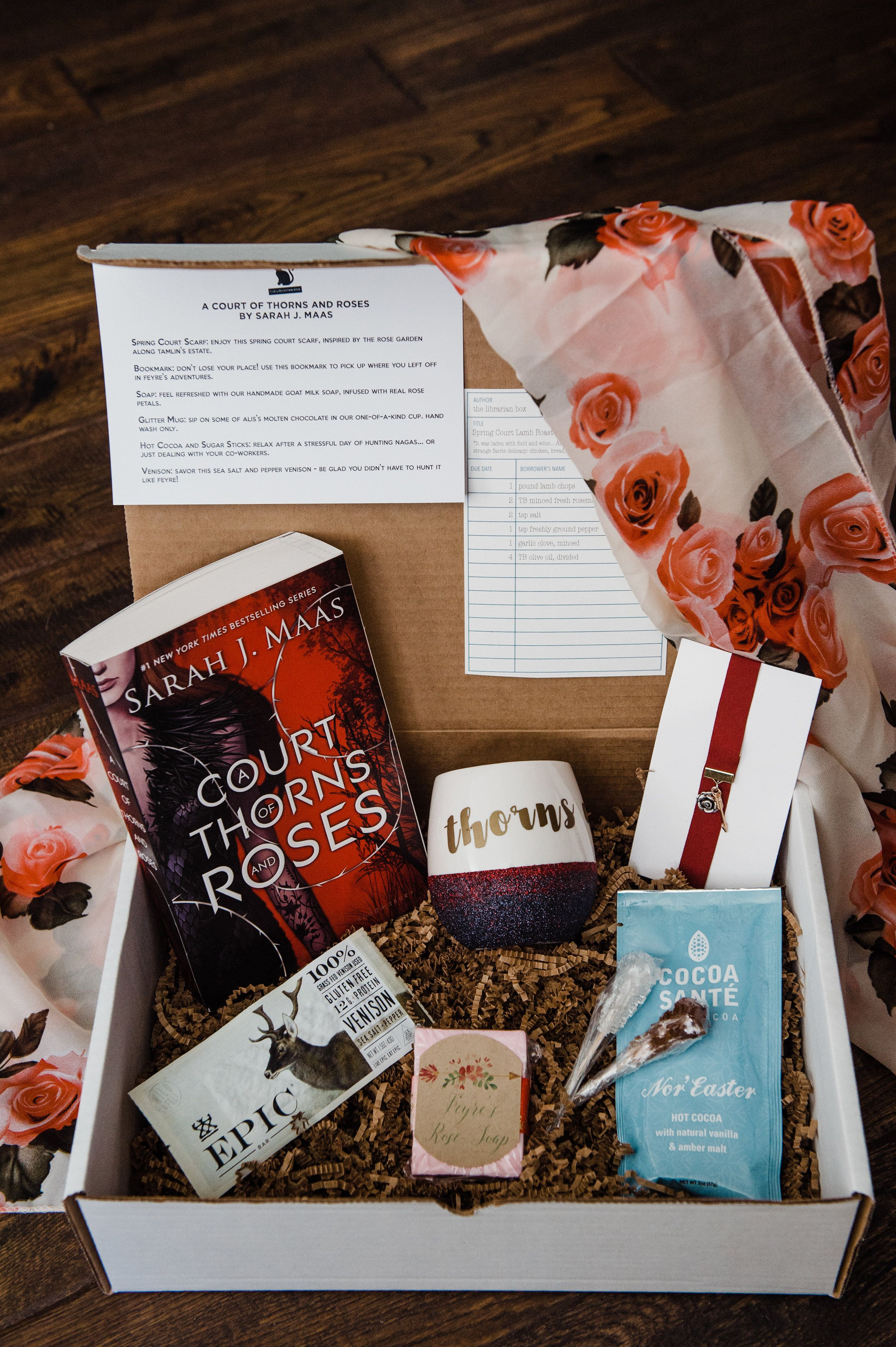 A Court Of Thorns And Roses Book Box Book Gift Basket Reading