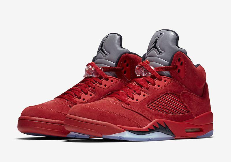 promo code 73f1d c01fc Air Jordan 5 Retro  Flight Suit  Red Suede - http   www