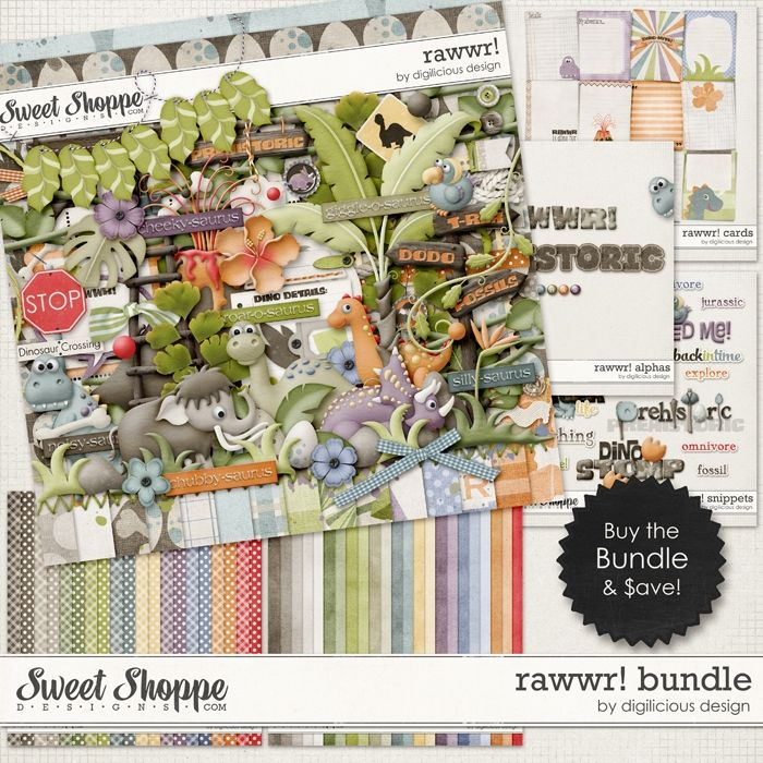Rawwr Bundle by Digilicious Design