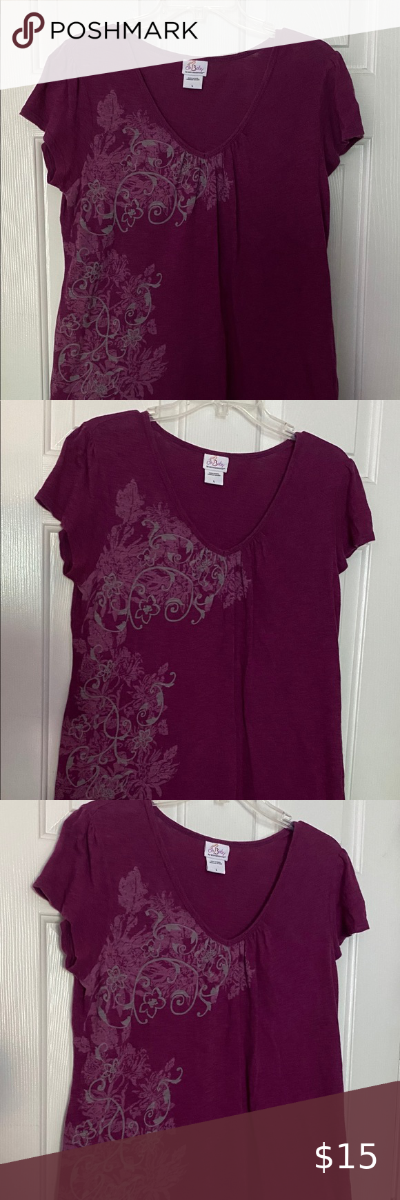 Oh Baby By Motherhood Maternity Top Size Large Maternity Tops Clothes Design Motherhood Maternity