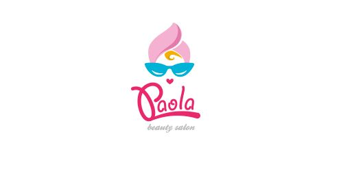 paola beauty salon logo awesome illustration hate the name rh pinterest com beauty salon logo design beauty salon logo templates