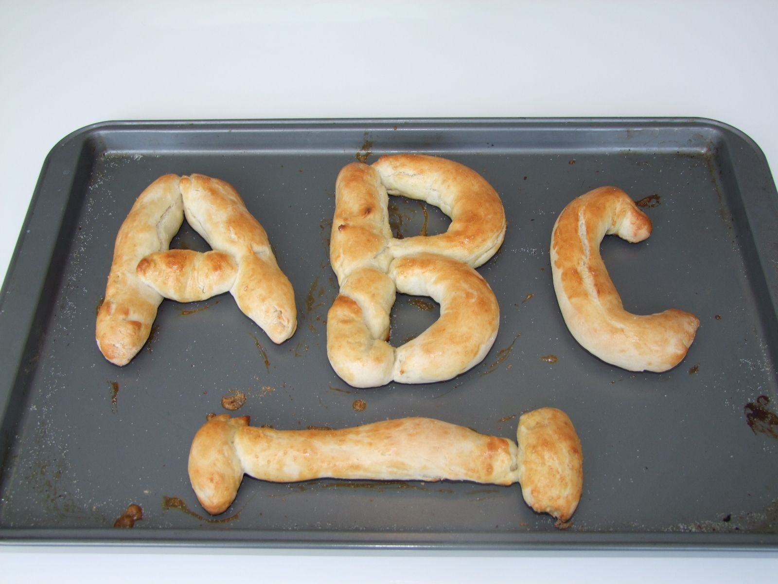 Kids will love cooking, learning the Alphabet and eating with this easy and fun ABC Letter Pretzel Recipe!