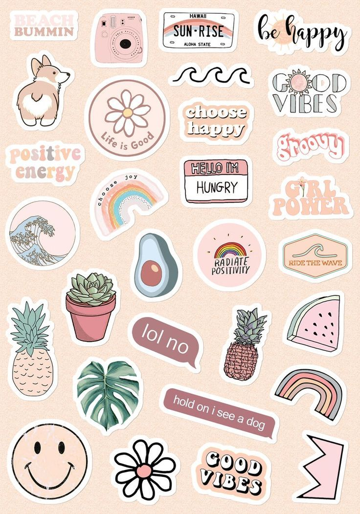 Small & Large Aesthetic Stickers for Phone Case (1*1 Inc) Stickers for Laptop for Bottle (2*2 In
