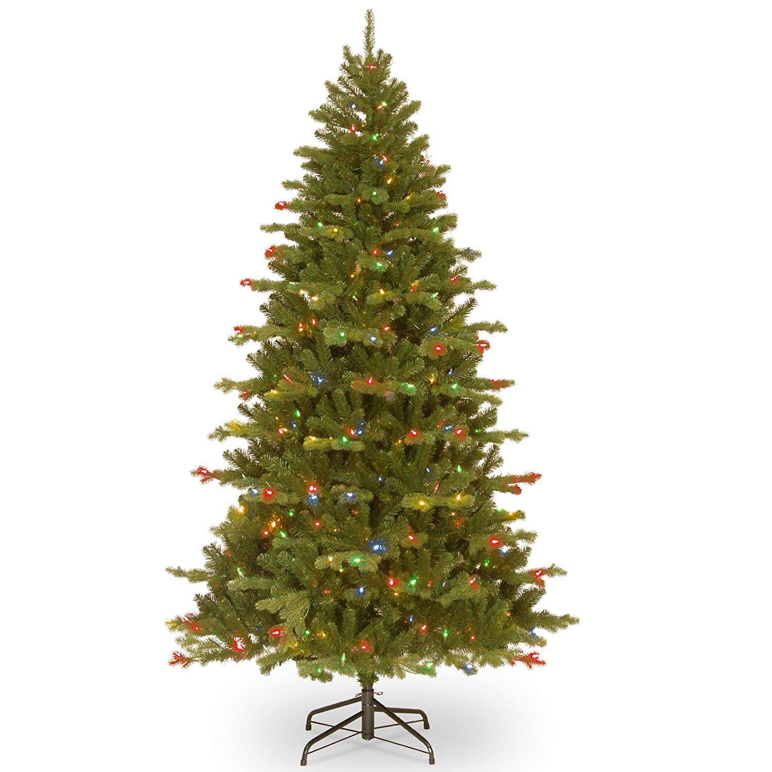 National Tree 7 5 Foot Feel Real Sheridan Spruce Memory Shape Tree With 550 Dual Led Lights With Images Christmas Decorations Living Room Christmas Decorations Led Lights