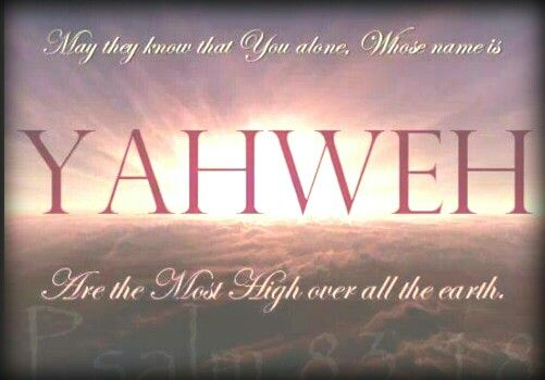 YAHWEH THE MOST HIGH!!