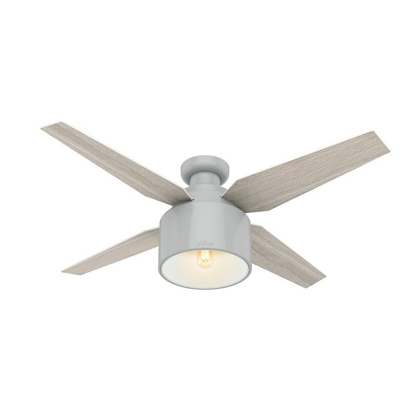 52 Cranbrook Low Profile 4 Blade Ceiling Fan With Remote Light