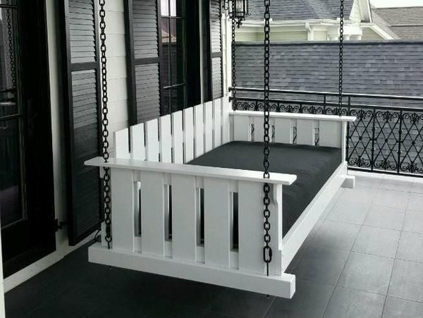 The Rivertowne Swing Bed Package In 2019 Porch Bed Porch Porch Swing