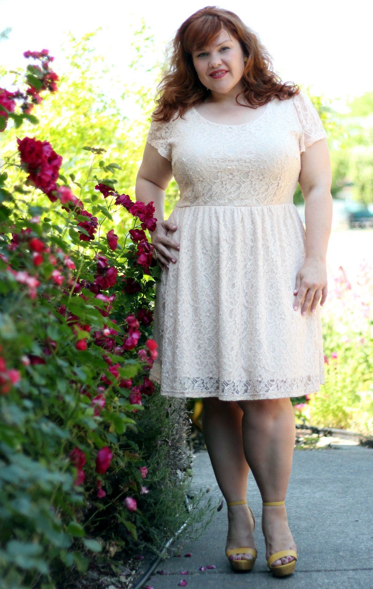 23e70fe468f3 OOTD 5.17.13 Cream Lace Dress Dress - Forever 21 + So I m no longer a blond  these days. It s been a couple of months since I posted an outfit of the  day ...