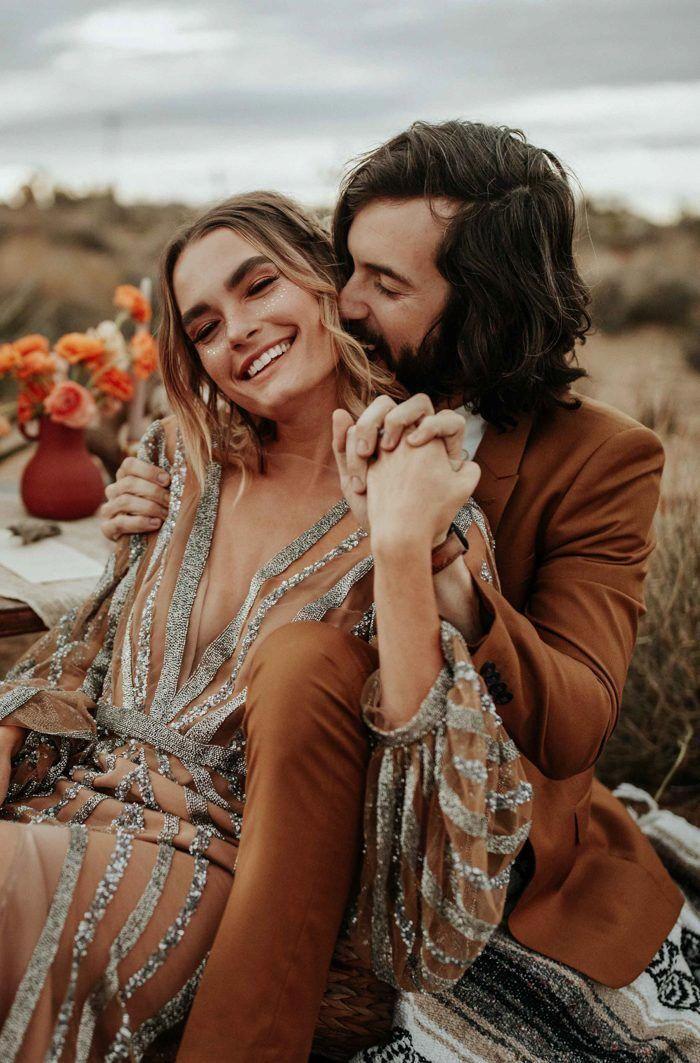 Diese Rose Gold Joshua Tree Hochzeit Inspiration ist wie ein Traum Boho Glam Fever   – Wedding Photography