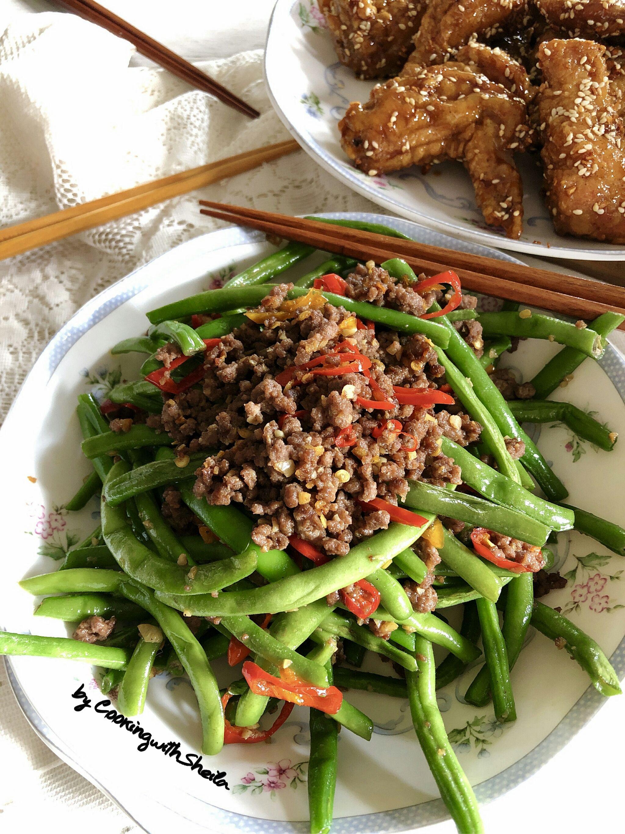 Buncis Masak Szechuan Ini Banyak Banget Dijual Di Resto Resto Chinese Biasanya Buncisnya Digoreng Dulu Enakk Sih Tap Resep Masakan Resep Masakan Asia Makanan