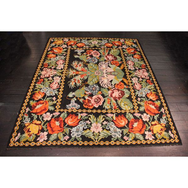 Vintage Bessarabian Rug ($1,370) ❤ Liked On Polyvore Featuring Home, Rugs,  Flat