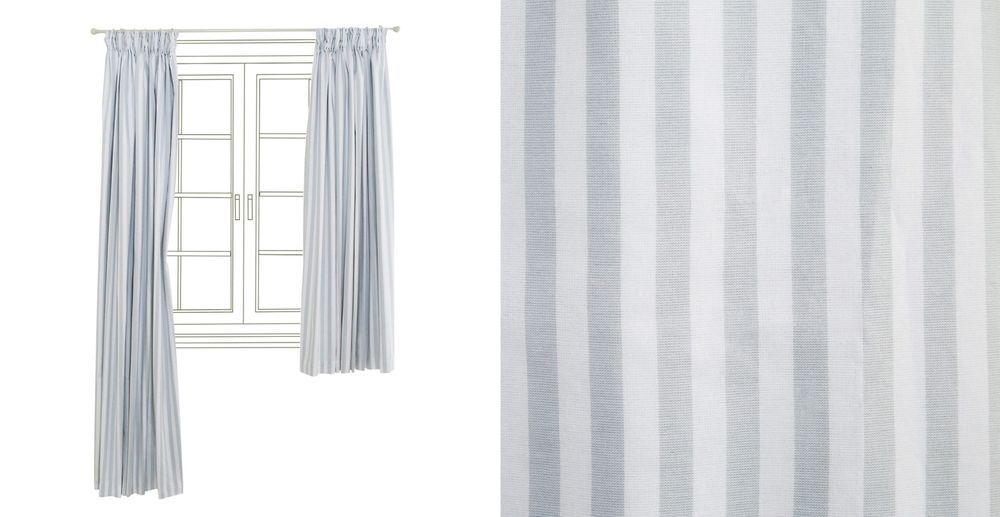 Gltc Grey White Striped Pencil Pleat Blackout Curtains Wide Width Rrp 80 Childrens Blackout Curtains Blackout Curtains Curtains