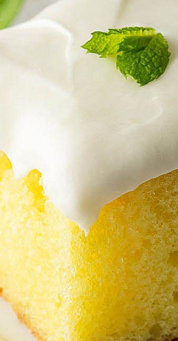Super Easy Lemonade Cake #easylemonaderecipe