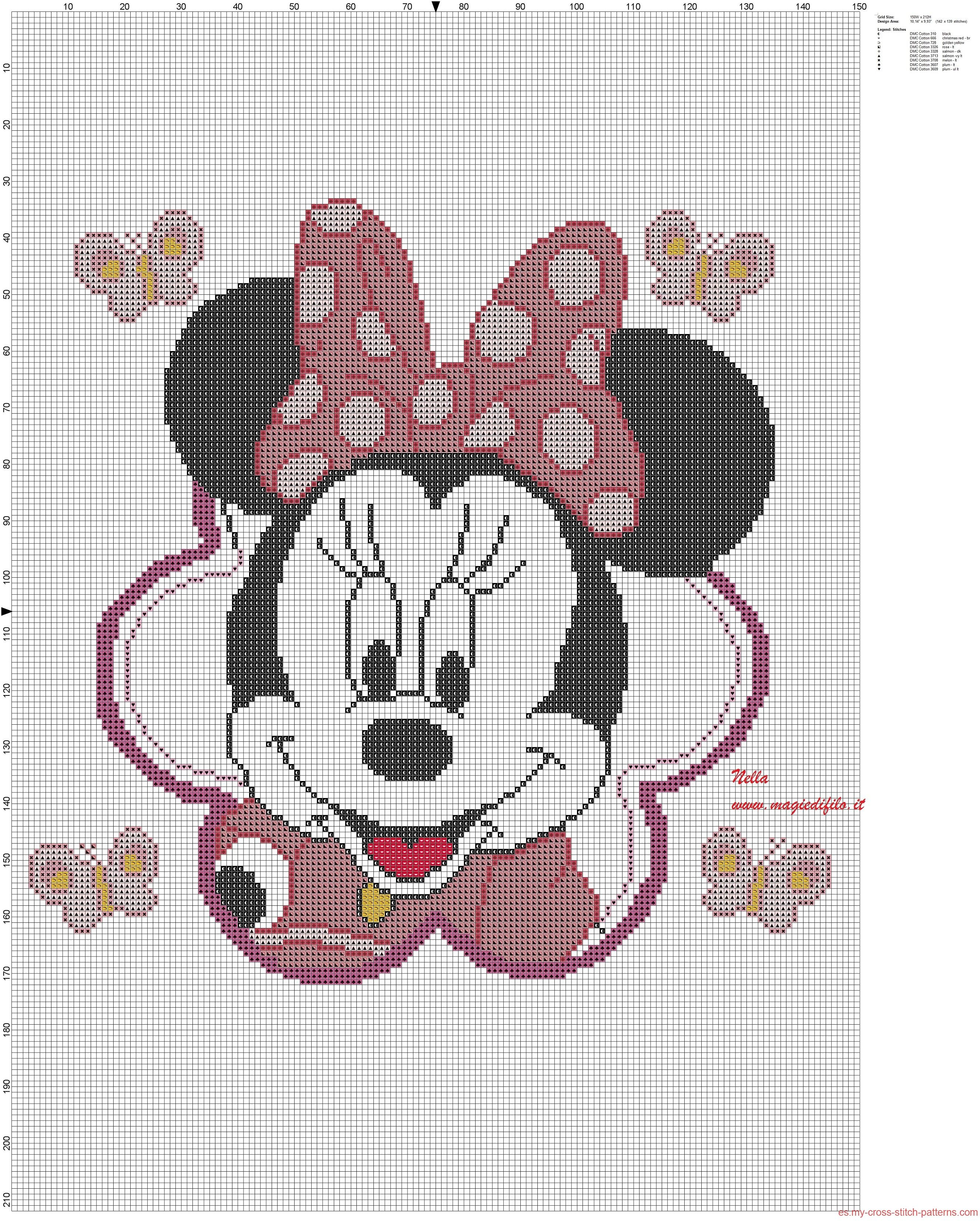 Minnie mouse almohada | Graph Patterns | Pinterest | Minnie mouse ...