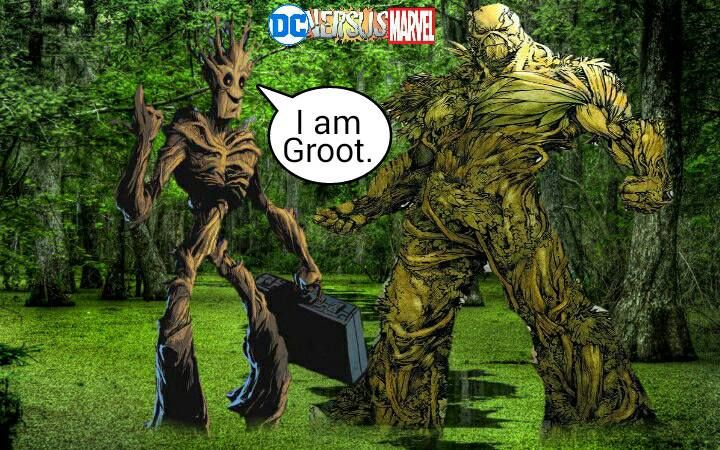 Marvel Vs DC Wallpapers Groot And Swamp Thing