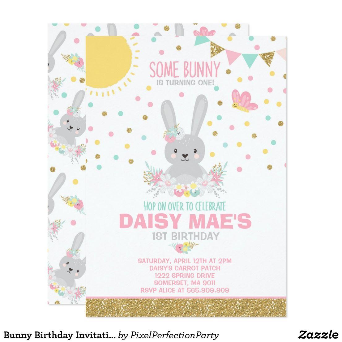 Bunny Birthday Invitation Some Bunny Birthday | { Happy Birthday ...