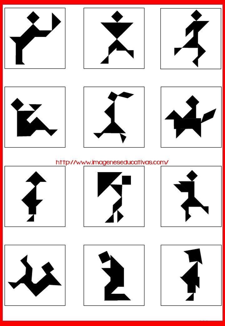 Tangram Figuras para imprimir plantillas incluidas | Actividades ...