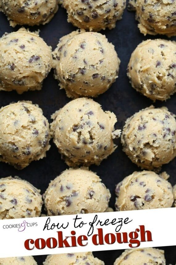 Freezing cookie dough is a great way to have cookies whenever you get a craving with zero effort. Learn How to Freeze Cookie Dough, which types freeze best, and how to make cookies from frozen dough! #cookiesandcups #cookies #cookiedough #howtofreezecookiedough #frozencookiedough #cookierecipes #cookiedoughrecipes #easycookierecipes #frozencookies