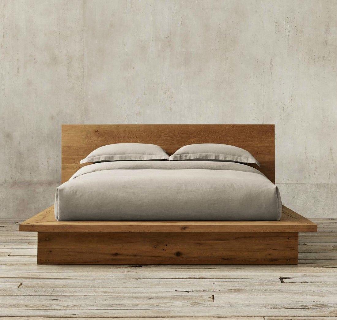 reclaimed russian oak platform bed from restoration hardware  - reclaimed russian oak platform bed from restoration hardware
