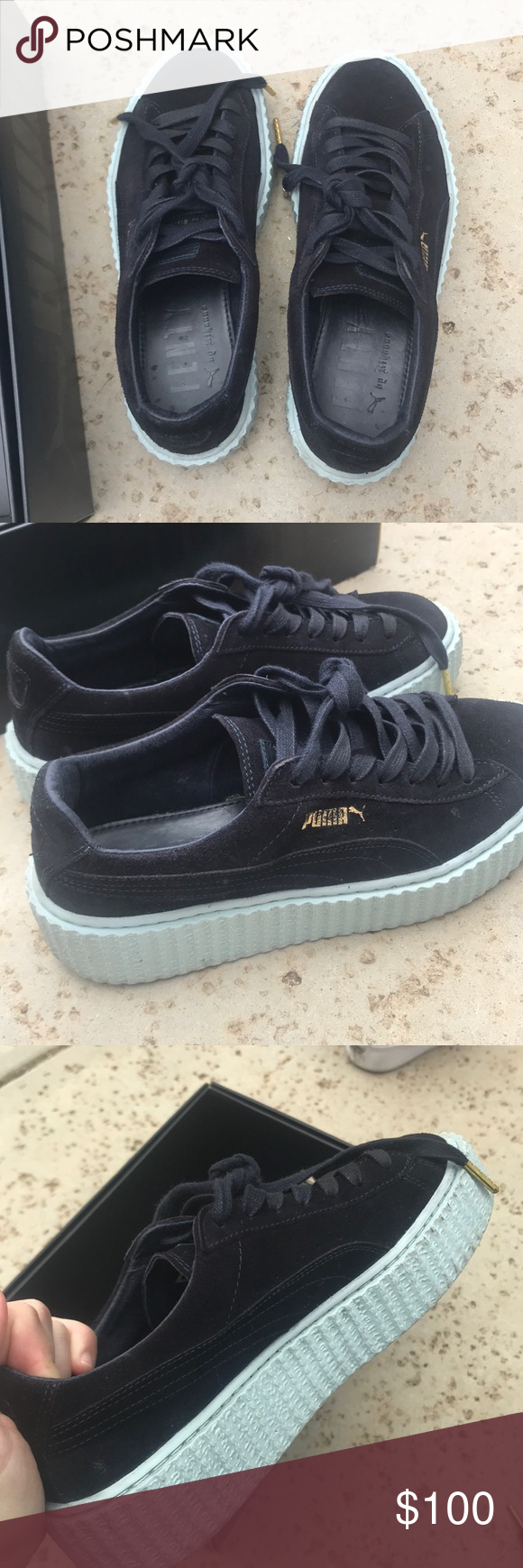 release date 18164 9d389 RIRI CREEPERS FENTY PUMAS. Suede.... box included. Good ...