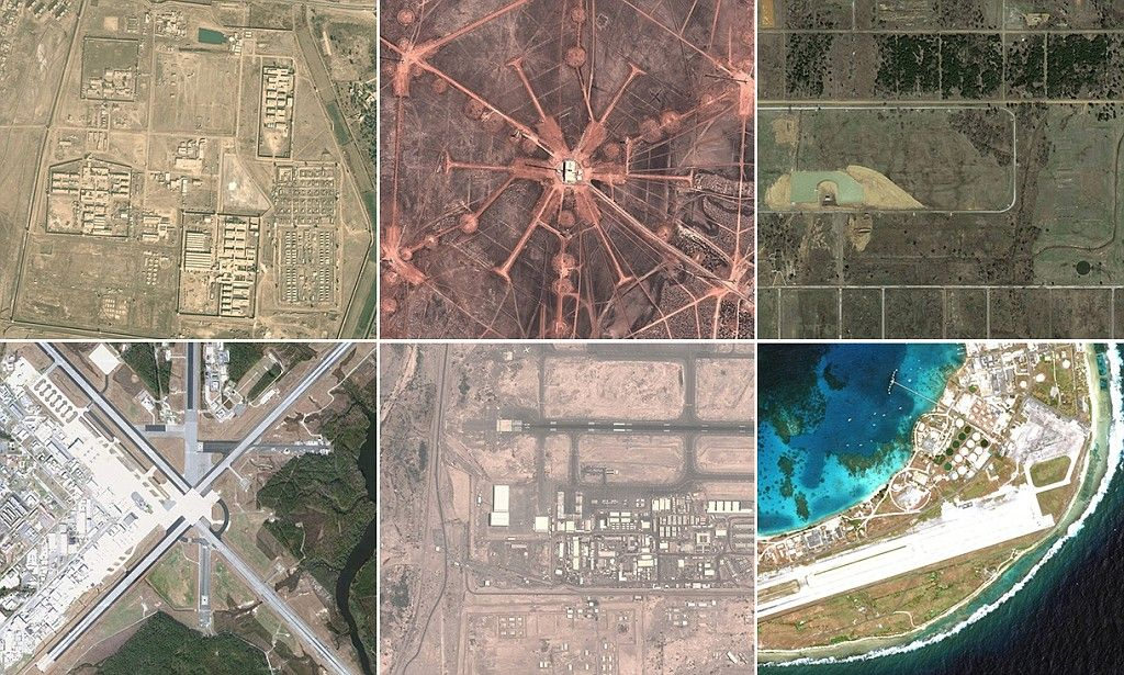 All the US Army's secret bases mapped on Google maps | hhhhhh | Map