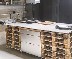 DIY facile et pas cher pour la cuisine   Ilot central, Ilot et Central