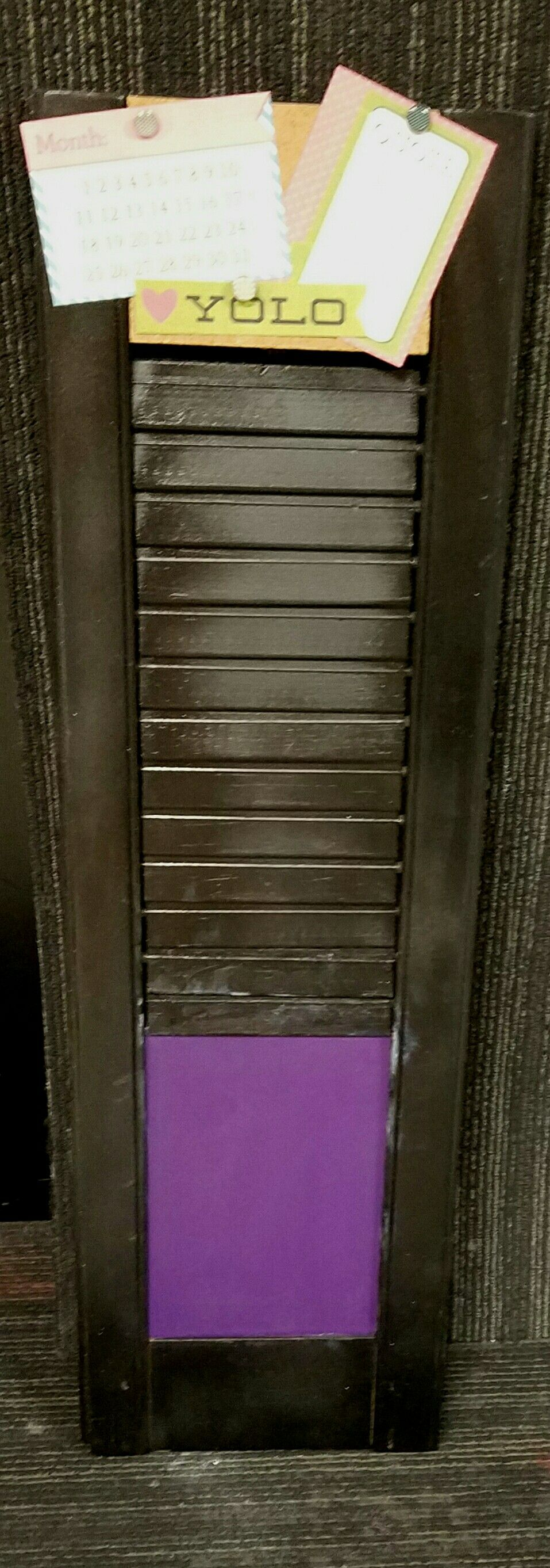 Chalkboard  / corkboard shutter
