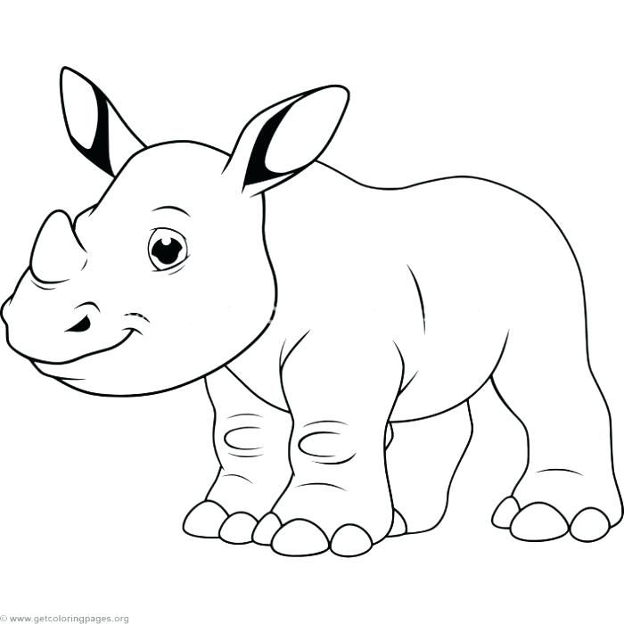 New Coloring Pages Rhino Free   Cute coloring pages ...
