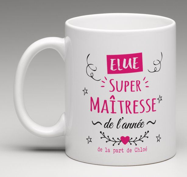mug cadeau personnalis elue super ma tresse de l 39 ann e personnalisation mug tasse. Black Bedroom Furniture Sets. Home Design Ideas