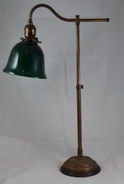 Antique Brass Desk Lamp With Green Shade Desk Lamp Brass Desk