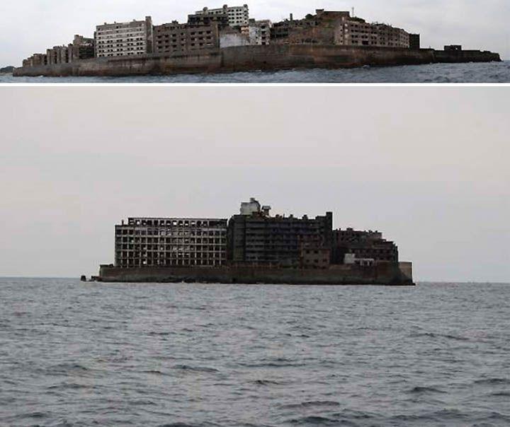 Hashima Island (Battleship Island) Off The Coast Of Japan
