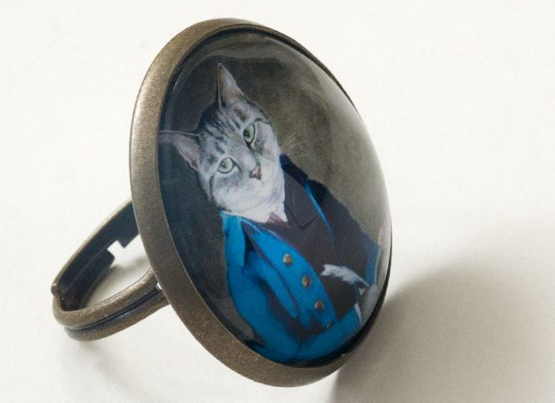 Anillo gato 25mm de Pero que monada! por DaWanda.com