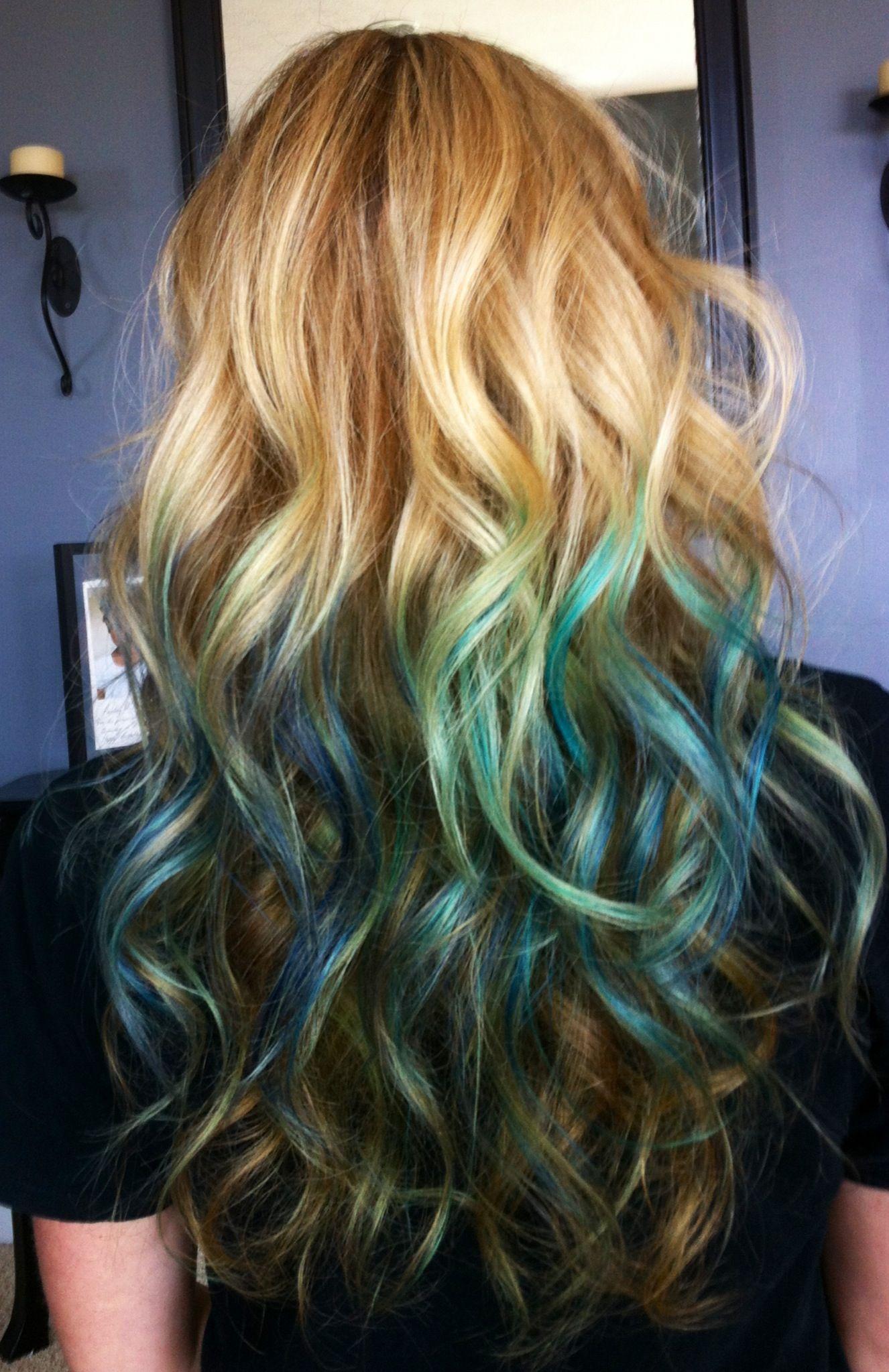 My Kool aid Hair Ice Blue Rasberry Lemonade and Mixed Berry Put