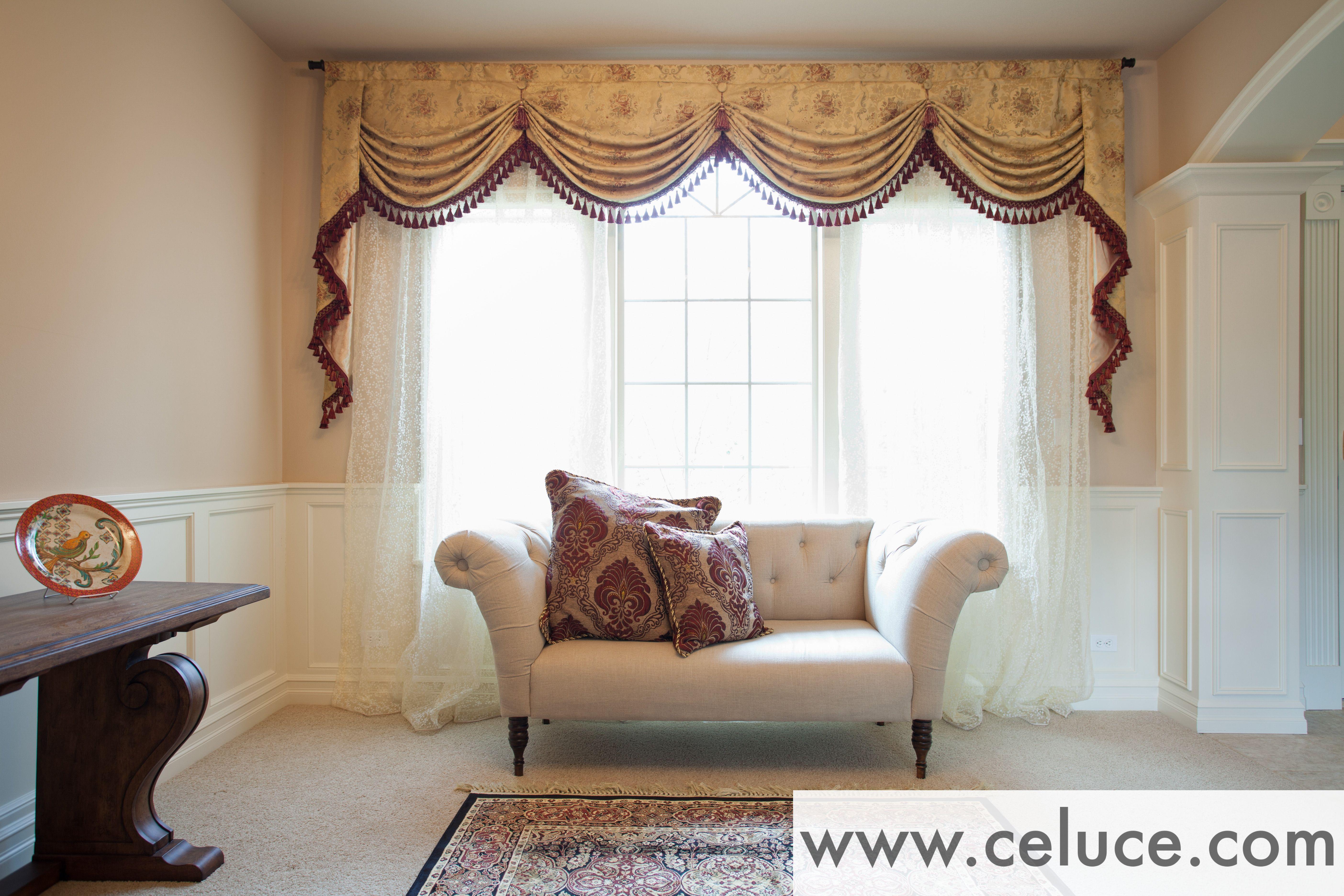 pinceluce design on elegant curtainsceluce