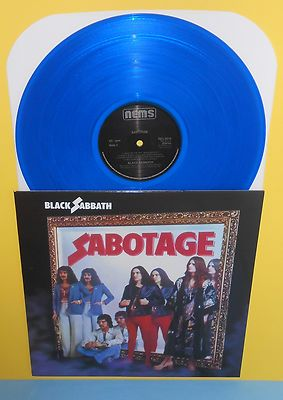 Black Sabbath Sabotage Lp Record Blue Vinyl Black Sabbath Albums Black Sabbath Album Cover Art