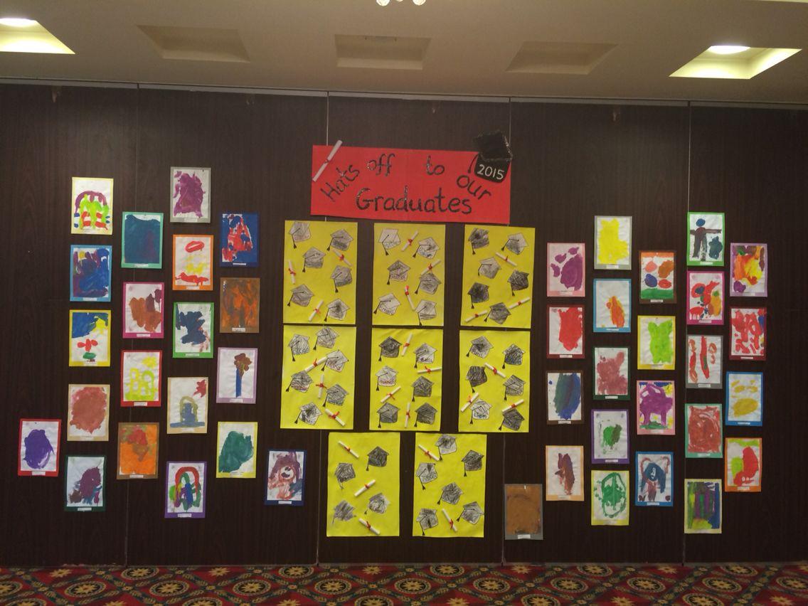 Art exhibition display Kindergarten art, Exhibition