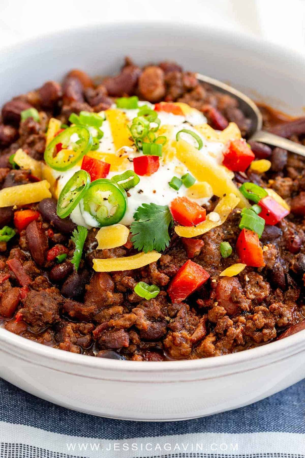 The Best Instant Pot Chili Recipe Ground Beef Recipes Chili Recipes Stuffed Peppers
