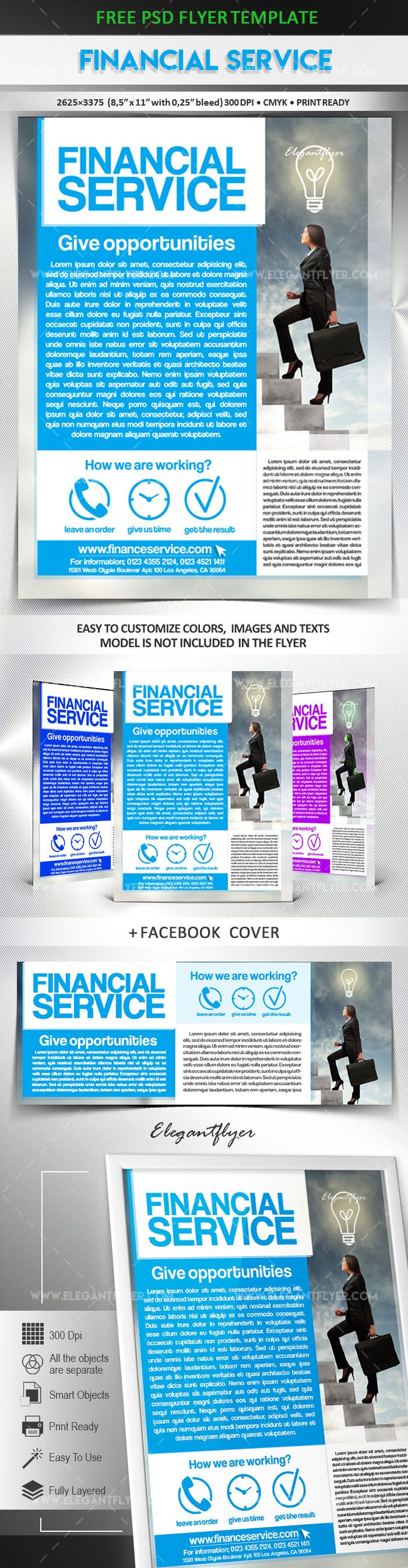 Financial Service Free Flyer Psd Template Free Flyers Templates