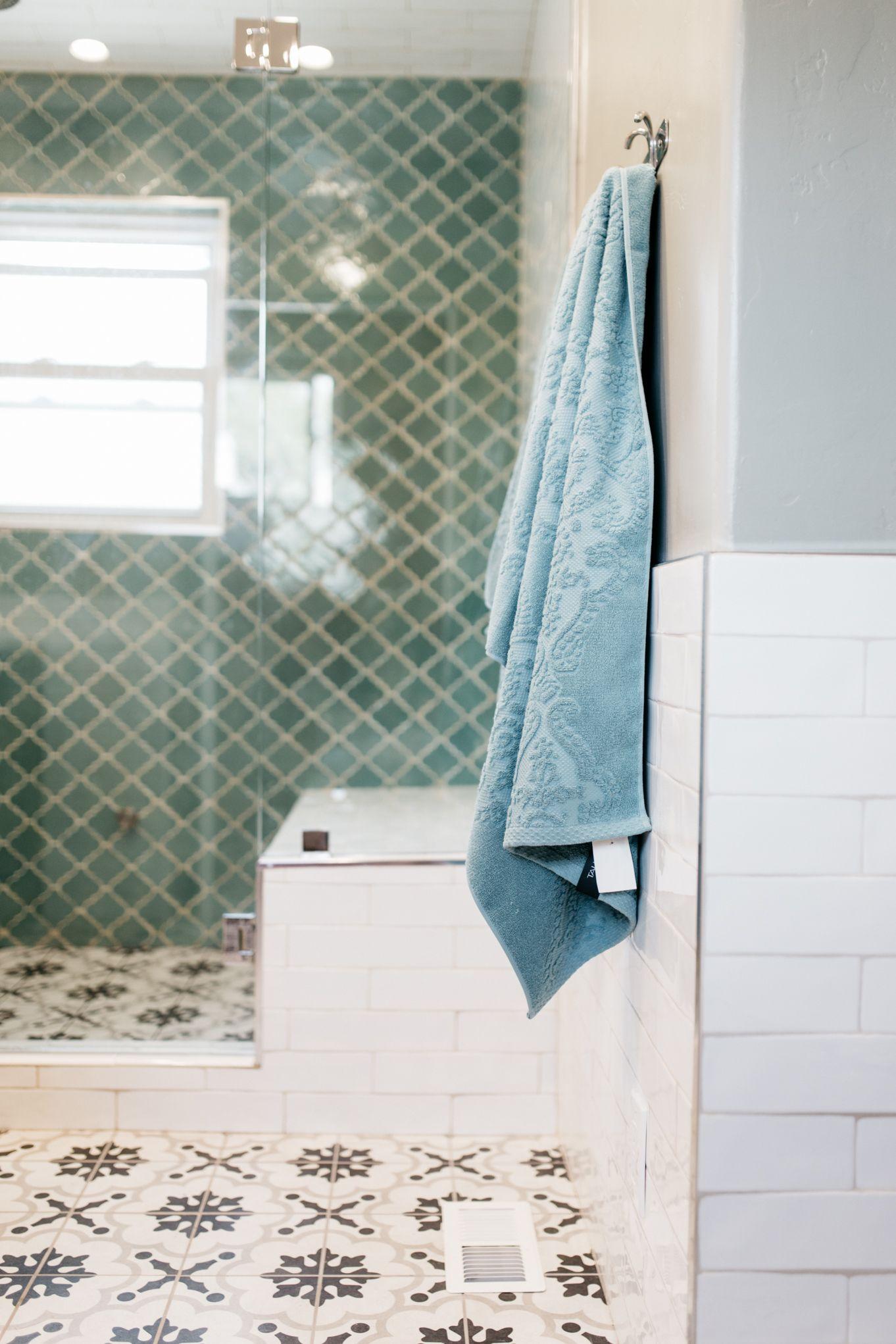 Spanish inspired bathroom, Contemporary bathroom, Tile floors, Steam ...