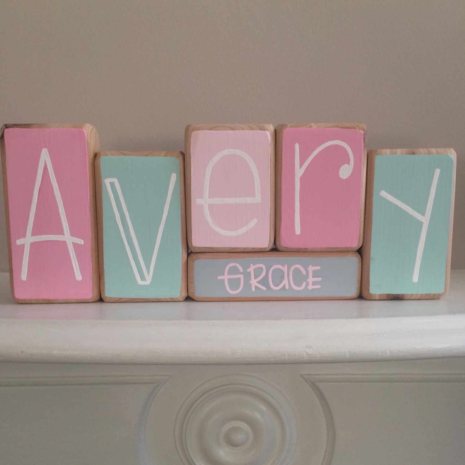 Baby name blocks custom baby gift by ruchalskirustic on etsy baby name blocks custom baby gift by ruchalskirustic on etsy negle
