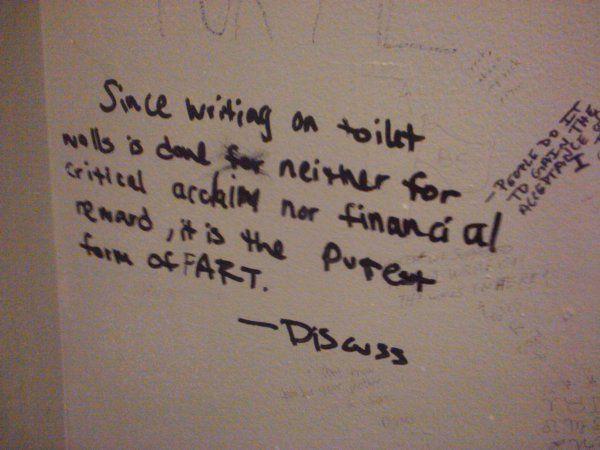 Funny Bathroom Wall Graffiti 18 beautiful examples of bathroom graffiti art going through a