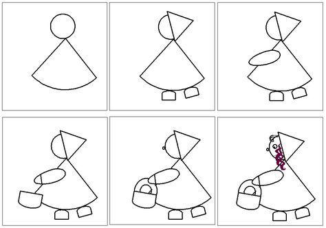 Quelques id es d 39 art visuel dessin par tapes bricolage - Dessiner un loup facilement maternelle ...